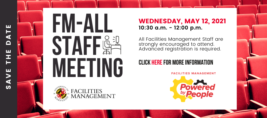 Register for the FM-All Team Meeting, May 12, 2021