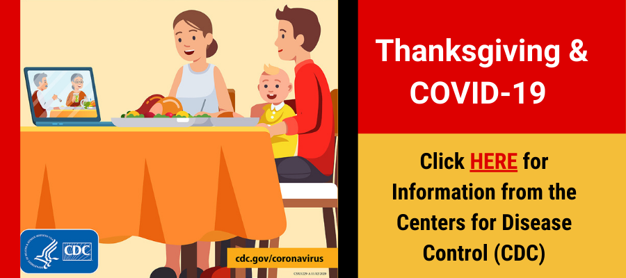 Thanksgiving and COVID-19 Information from the CDC