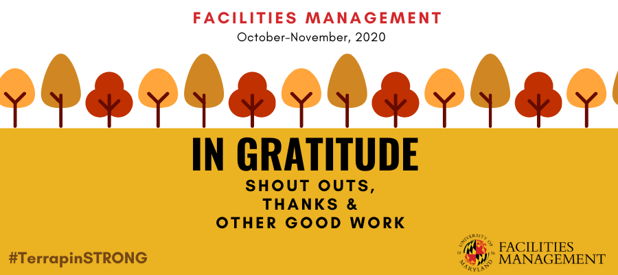 FM Shout Outs, Thanks & Other Good Work - October/November 2020